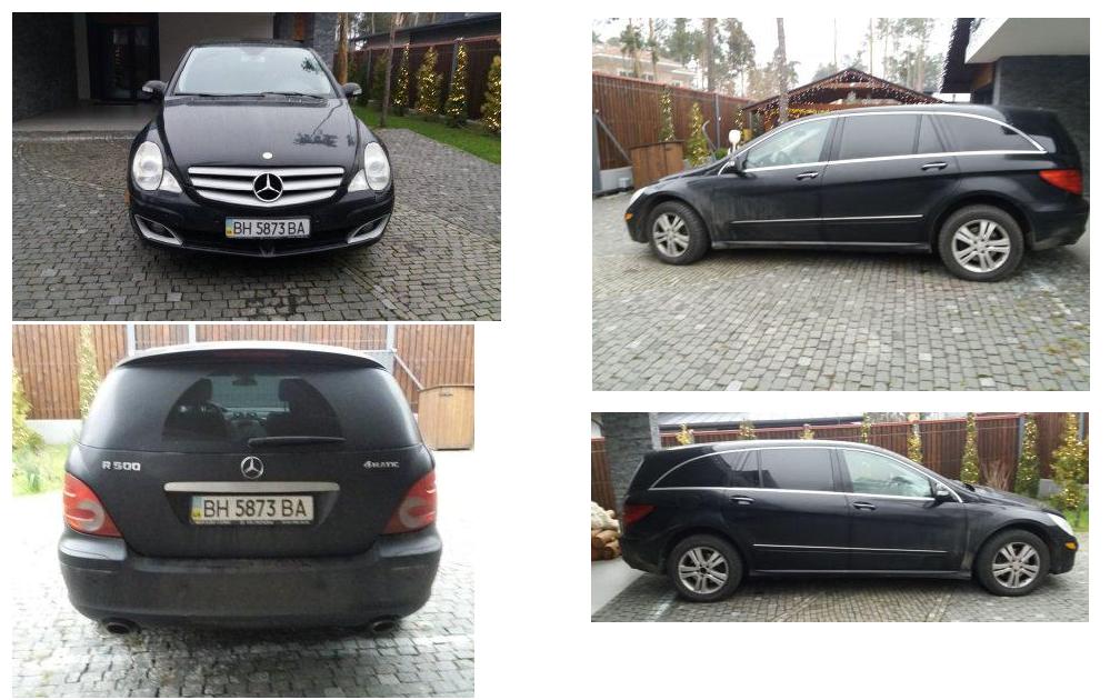 Автомобіль Mercedes Benz R500, легковий седан, чорний, номер державної реєстрації BН5873ВА, 2006 р.в., номер кузова 4JGCB75E46A030427, об'єм двигуна 4966