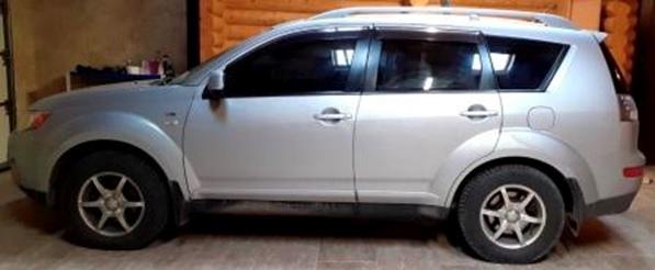 Автомобіль Mitsubishi Outlander, легковий універсал, сірий, держ.номер BH2020BE, 2007 р.в., номер кузова JMBXLCW6W7Z001667, об'єм двигуна 2998, інв.номер 1876