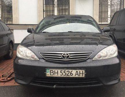Автомобіль Toyota Camry, легковий седан, чорний, держ.номер BH5526AH, 2005 р.в., номер кузова JTDBE32K263052456, об'єм двигуна 2363, інв.номер 1481